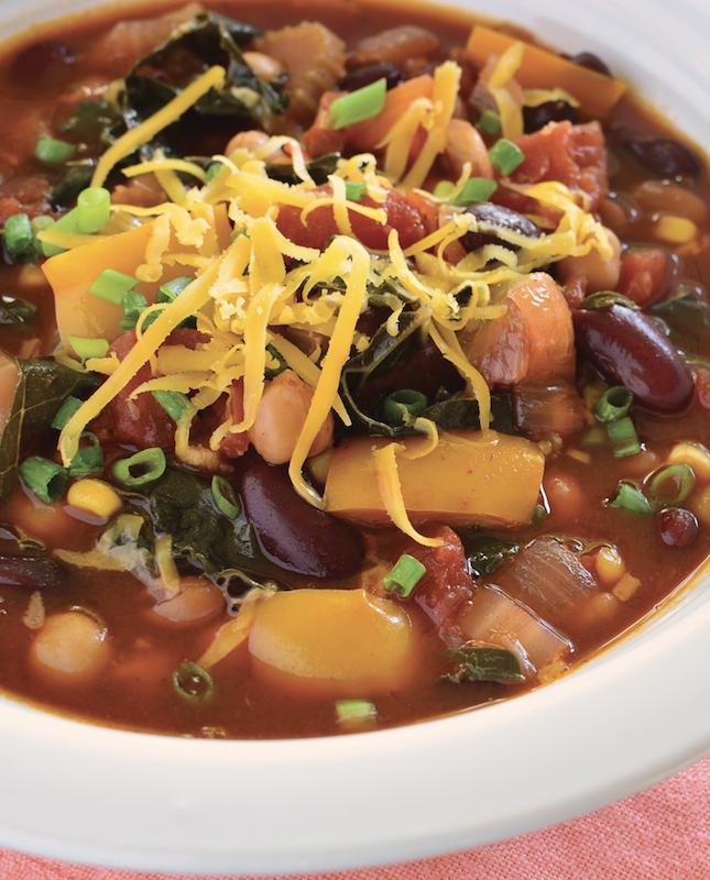 Vegan Slow Cooker Chili Soup